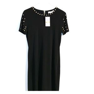 Michael Kors black with gold studs cocktail dress